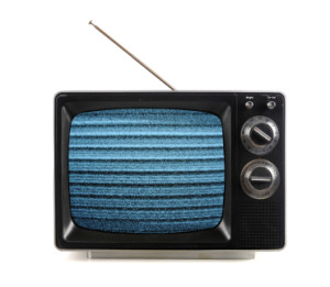 Vintage TV With Snow Patterns