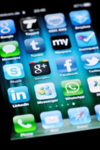 Social Media Apps on Apple iPhone 4