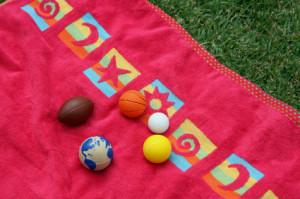 balls and towel