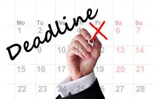 Deadline date on calendar