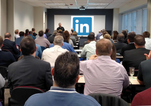 A large in-person meeting