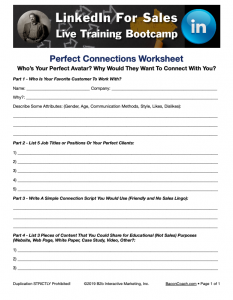 Worksheets help get focus on LinkedIn